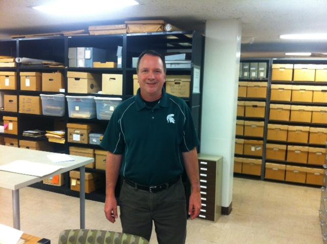 Ed Busch, MSU archivist behind the new site
