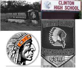 Some of the school signs and images listed in the complaint.