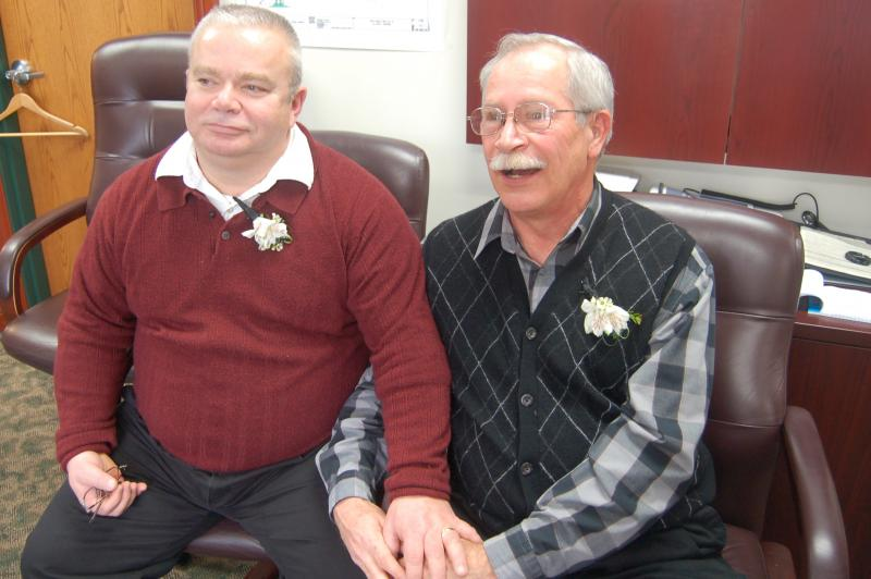 Tim LaCroix (left) and Gene Barfield (right)