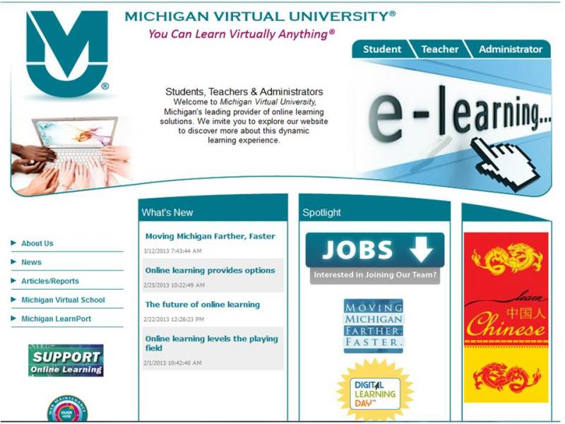 Michigan Virtual University expects 28,000 K-12 students in this school year.
