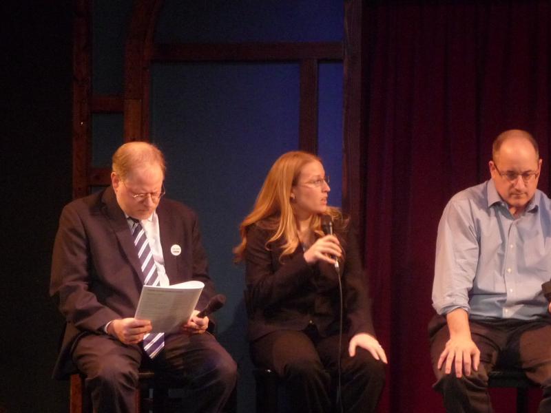 Panelists John Bebow, Shawna Groulx and David Zeman