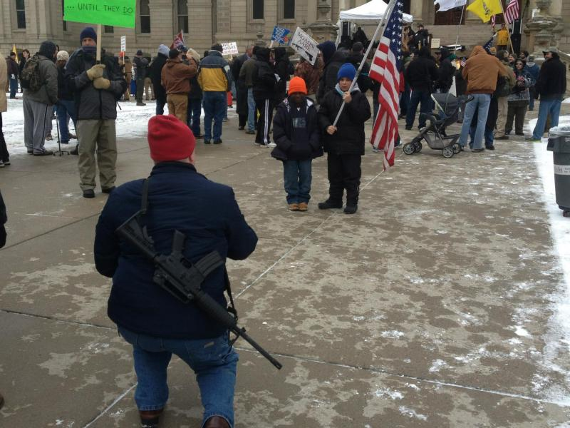 Hundreds gather for pro-gun rally at state Capitol