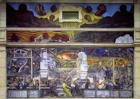 Detroit Industry, North Wall by Diego Rivera