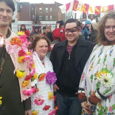 These revelers hope for warmer days.