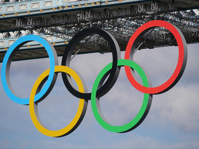 It's not too likely that Olympic rings will be hanging in Detroit (the Olympic rings in London).