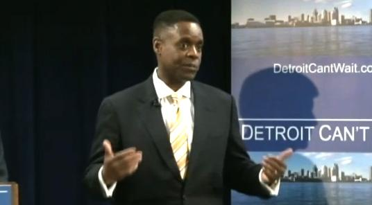 Kevyn Orr speaking at the press conference announcing his appointment.