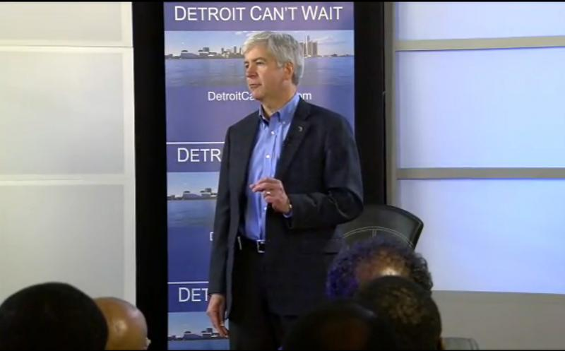 Gov. Snyder announcing last week that he intends to appoint an emergency manager for Detroit.
