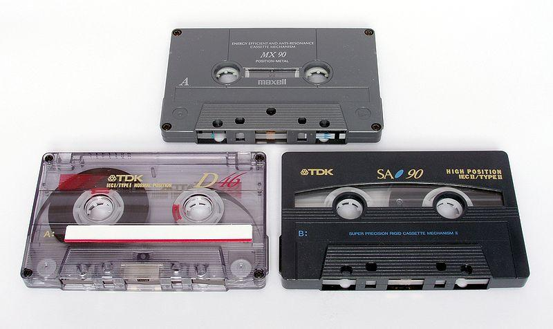 Cassette tapes were popular in the 70's and 80's
