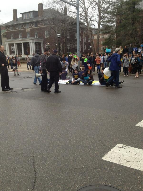 Students getting arrested by the University of Michigan Police