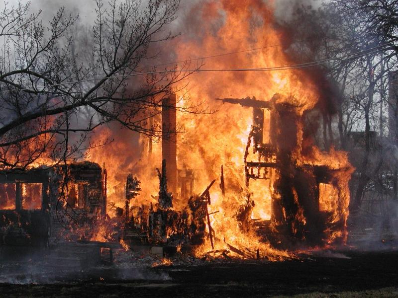 Flint home burns to the ground (file photo)