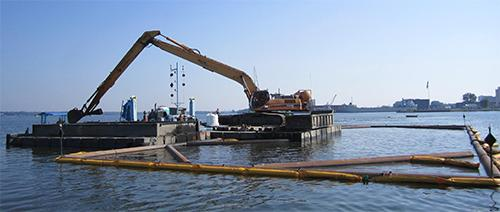 Dredging on the Great Lakes.