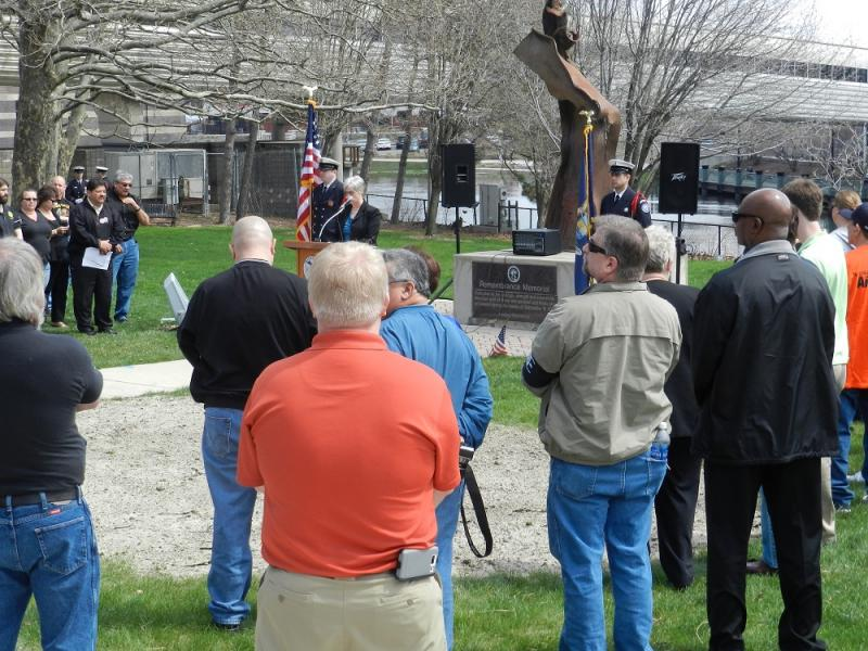 In Lansing, dozens of people attended a reading of names of people who died on the job in Michigan last year