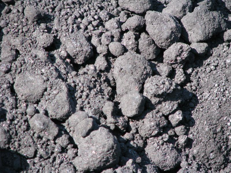 Petroleum coke rocks.