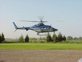 One of two Michigan State Police helicopters that will begin patrols in west Michigan.
