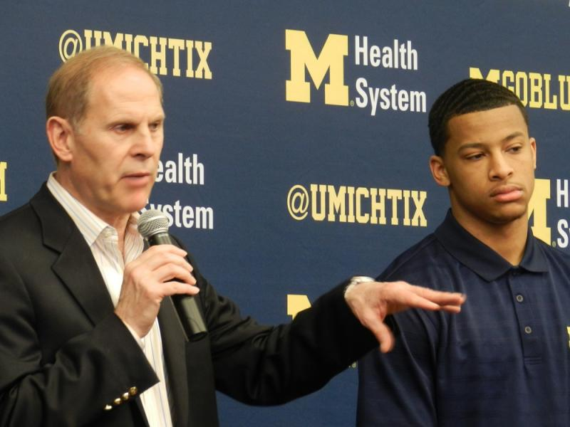 U of M head coach John Beilein (left) says he expects other players will step up now that star guard Trey Burke is leaving the team to seek a career in the NBA