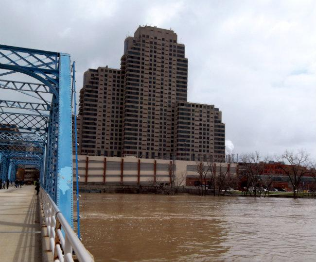 Plaza Towers was evacuated Saturday after about 5 feet of water filled the parking garage.