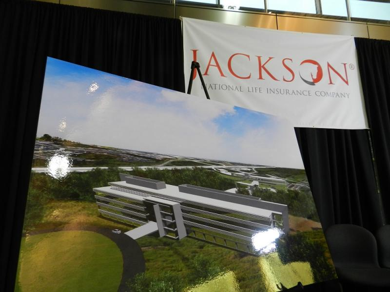 Jackson National Life insurance company is expanding its Lansing headquarters