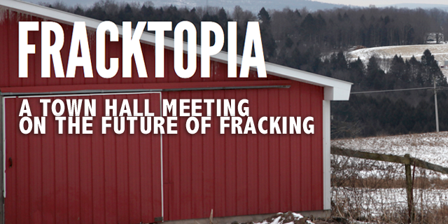 An image from the short film on fracking shown at the town hall meeting.