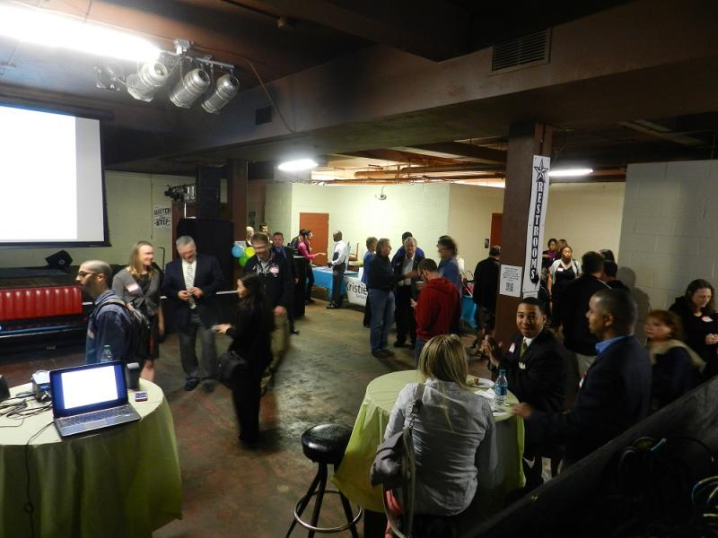 Entrepreneurs and potential microlenders meet and greet at the kickoff of KIVA Flint on Friday