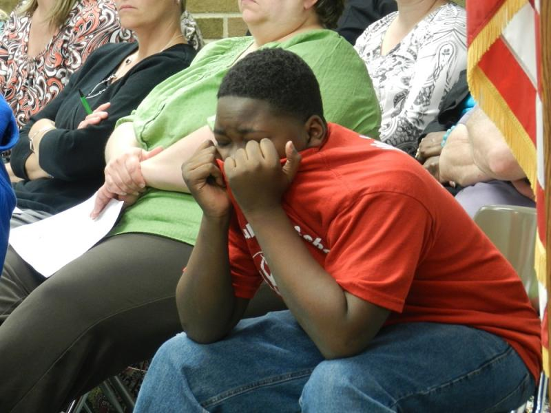 Some students cried when the vote to close the high school was taken at last night's Albion School Board meeting.