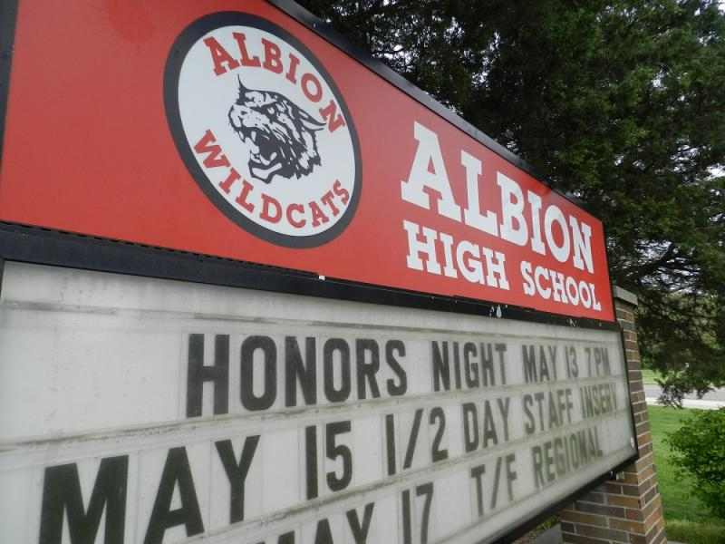 Albion High School is closing.  The district is struggling to close a looming budget deficit.