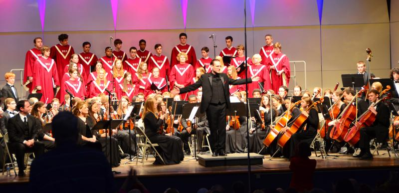 "The Berkley High School orchestra and choir performs ""My Name is Anne Frank."""