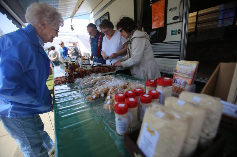 Haigh's Maple Syrup and Supplies is one of the producers who sets up shop during the Michigan Maple Syrup Festival.