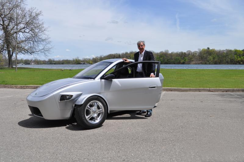 Elio Motors founder Paul Elio with his creation