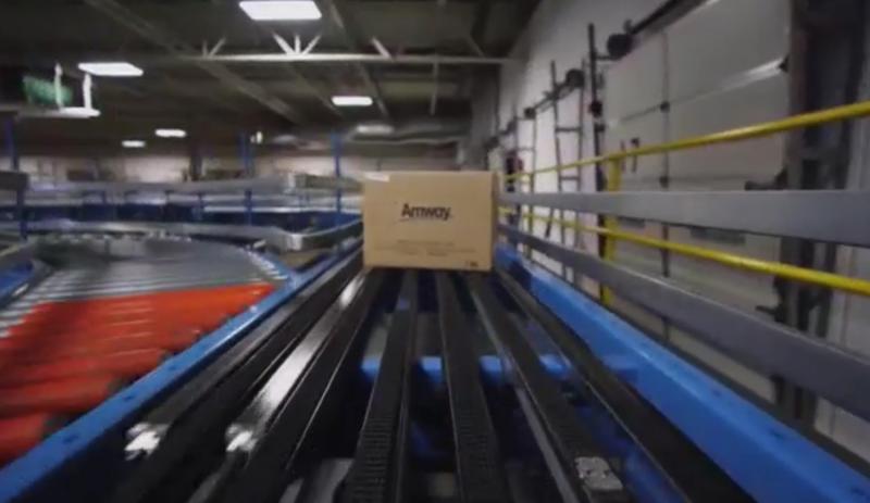 An Amway conveyor belt.