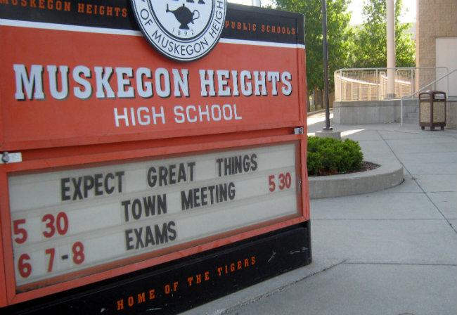The Muskegon Heights Public School Acadmey has a regularly scheduled board meeting tonight, but it appear no plan is in place to make payroll for the rest of the school year.