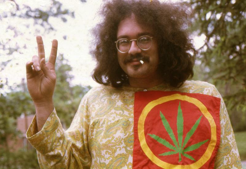 Poet and activist John Sinclair was arrested and jailed for giving marijuana to an undercover police officer. The controversy over his arrest led to decriminalizing marijuana in Ann Arbor in 1972.