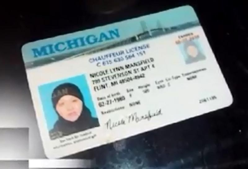 Nicole Lynn Mansfield's driver's license.