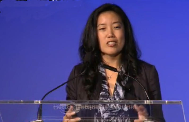 Michelle Rhee speaks at the 2013 Mackinac Policy Conference.