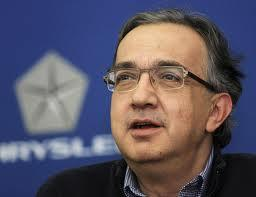 Chrysler and Fiat CEO Sergio Marchionne, in a BLACK sweater (we're shocked!)