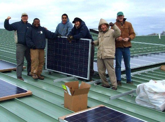 The Michigan Interfaith Power and Light solar team.