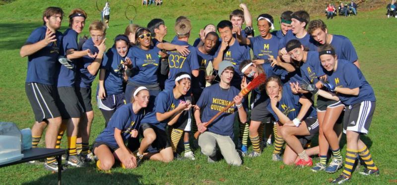 The University of Michigan quidditch team