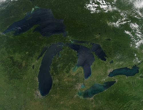 Great Lakes water levels are  rising