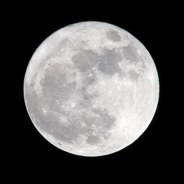 A supermoon, up close