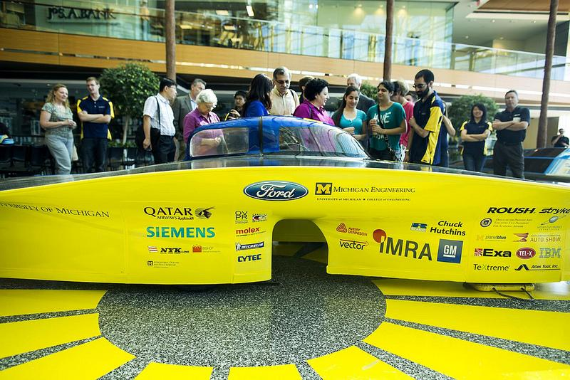 "2013 Solar Car ""Generation"" Unveiling at the Renaissance Center in Detroit, MI on June 18, 2013"