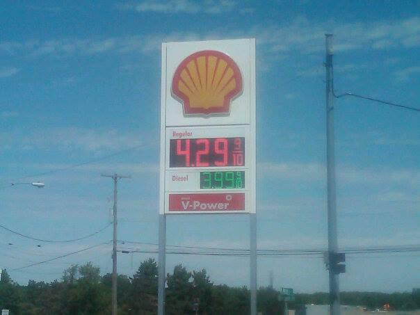 This gas station in Jackson is one of many in Michigan that hiked their prices Wednesday.