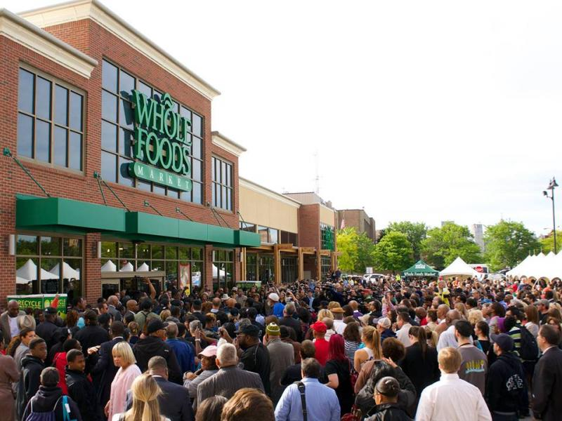 The grand opening of the Detroit Whole Foods store.