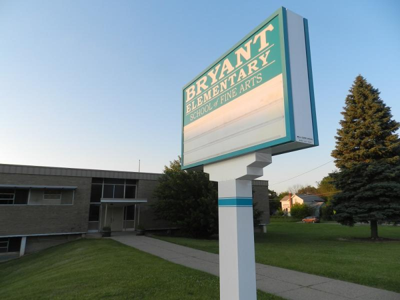Bryant Elementary on Flint's north side closed this year.   It's one of about two dozen properties the school district may soon try to sell.