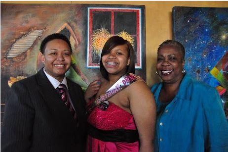 Three generations: Jacquise Purifoy (mom), Jasmine (daughter), Vivan (grandmother)