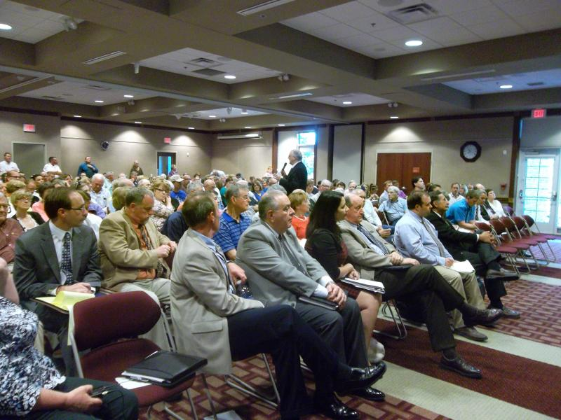 About 250 residents pack a public hearing last week hosted by Michigan's Department of Environmental Quality.