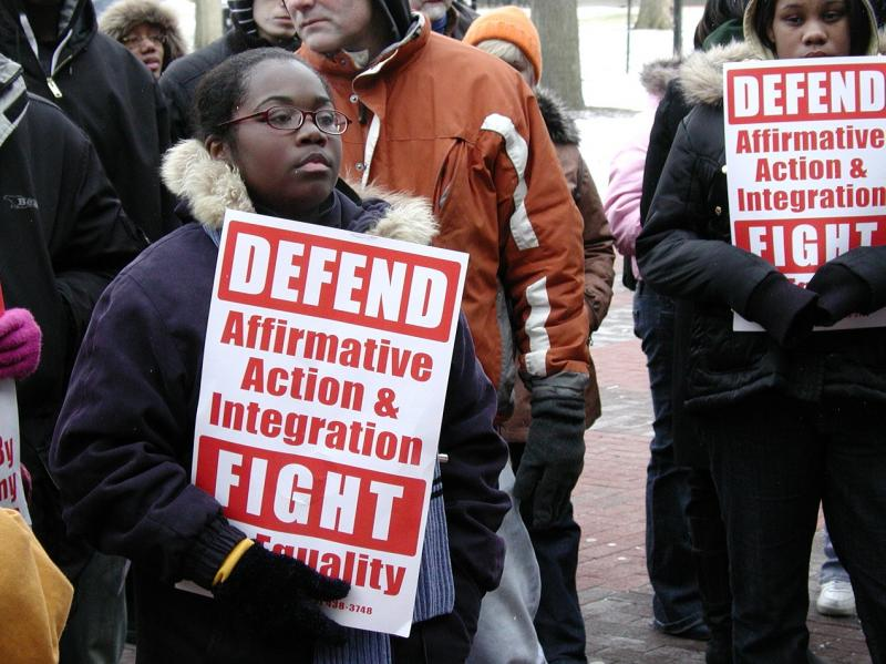 Affirmative Action protest on the Univesity of Michigan campus (file photo)