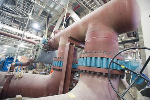 Inside Lansing's new gas-fired power plant.