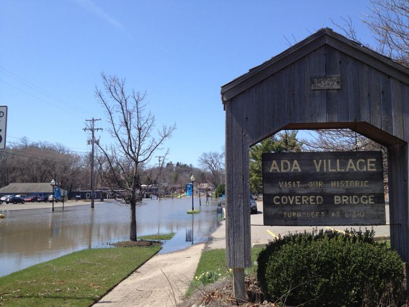Flood waters in Ada, Michigan (file photo)