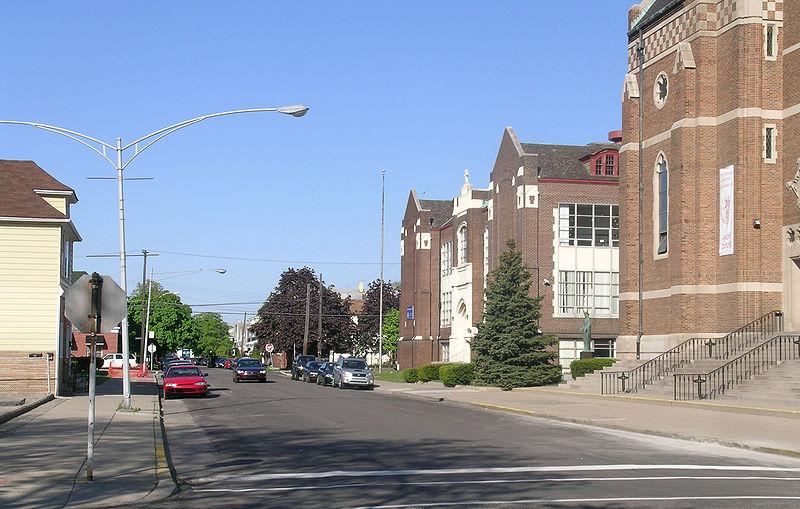 The St. Florian Historic District in Hamtramck, Michigan.