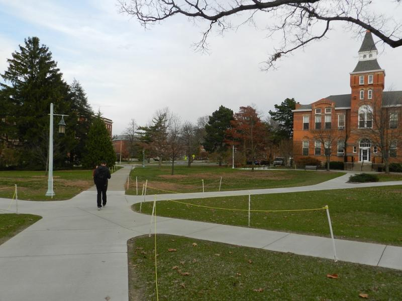 A student walks on the MSU campus (file photo)