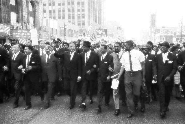 On June 23rd, 1963, Martin Luther King, Jr. marched down Woodward Ave. in Detroit to Cobo Hall.